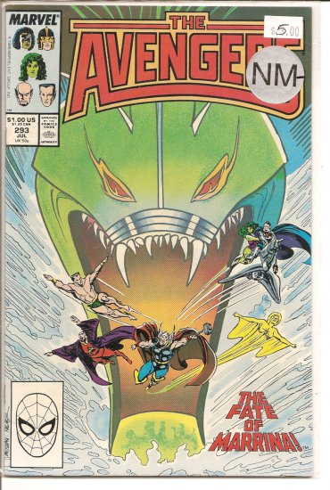 Avengers # 293, 9.2 NM -