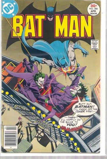 BATMAN # 286, 4.5 VG +