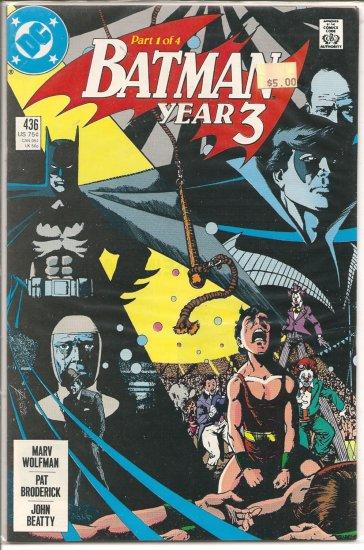 Batman # 436, 9.4 NM