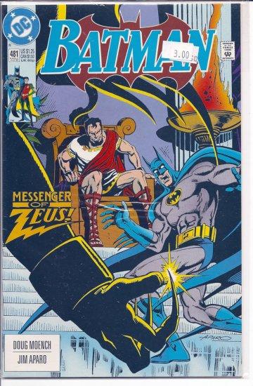 Batman # 481, 9.0 VF/NM