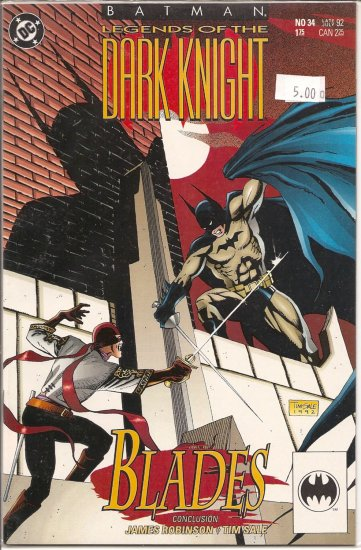 Batman Legends of the Dark Knight # 34, 9.2 NM -