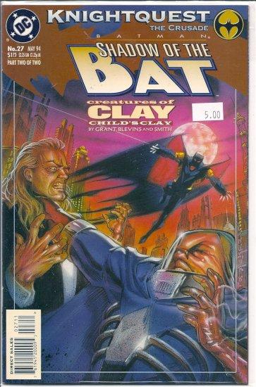 Batman Shadow of the Bat # 27, 9.2 NM -