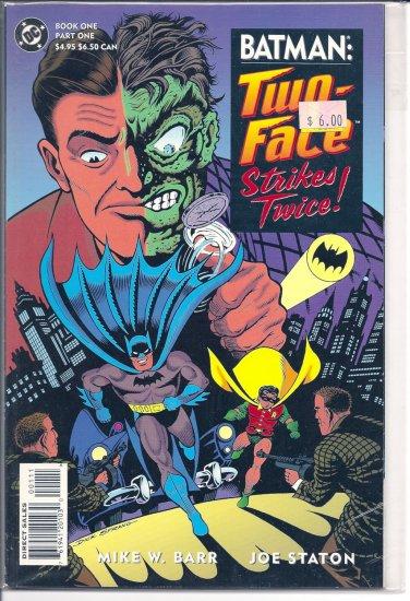 Batman Two-Face Strikes Twice # 1, 9.4 NM