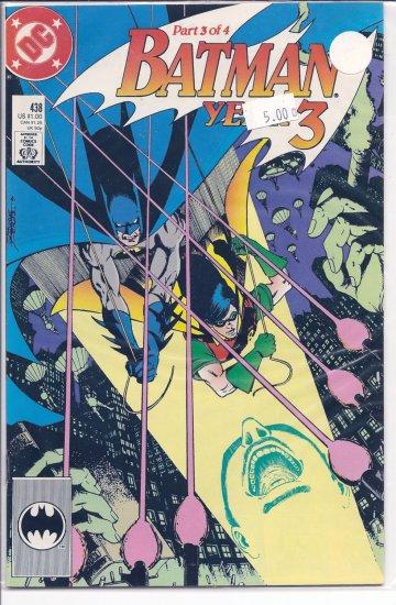 Batman Year 3 # 438, 5.0 VG/FN