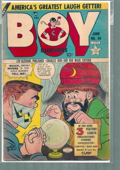 BOY ILLUSTORIES # 90, 2.5 GD +