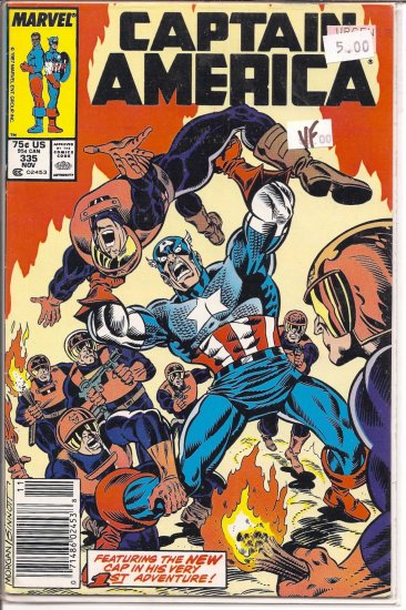Captain America # 335, 8.0 VF