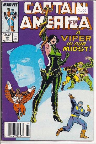 Captain America # 342, 9.0 VF/NM