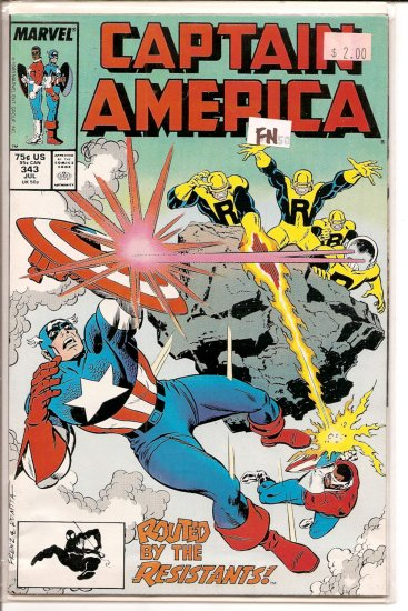Captain America # 343, 6.0 FN