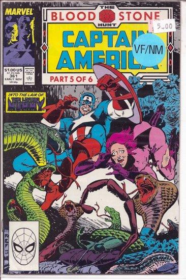 Captain America # 361, 9.0 VF/NM