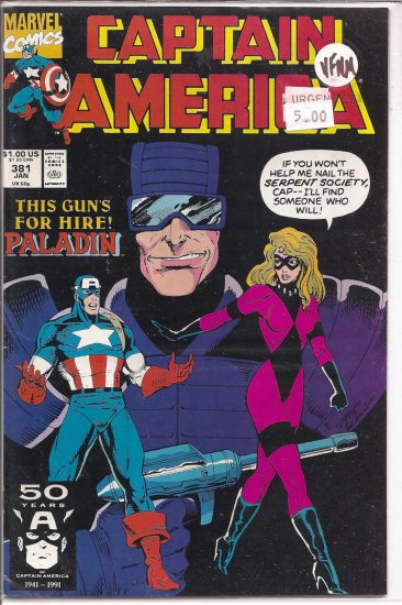 Captain America # 381, 9.0 VF/NM