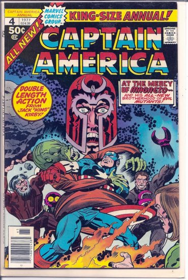 CAPTAIN AMERICA ANNUAL # 4, 4.5 VG +