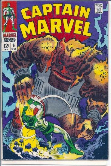 Captain Marvel # 6, 5.5 FN -