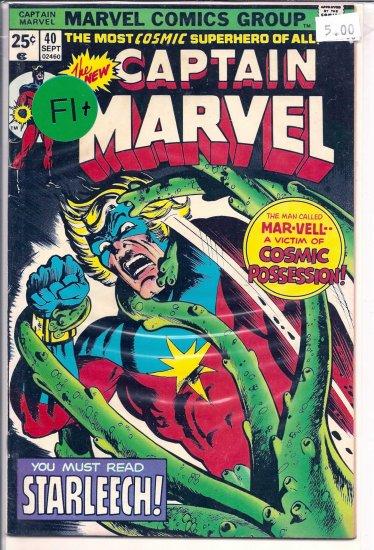 Captain Marvel # 40, 6.5 FN +