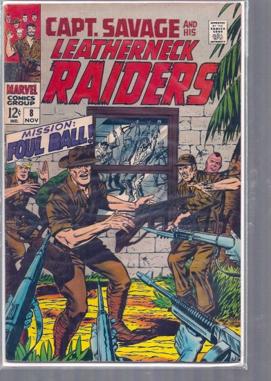 CAPTAIN SAVAGE AND HIS BATTLEFIELD RAIDERS # 9, 4.5 VG +