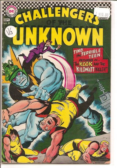 Challengers of the Unknown # 57, 4.0 VG