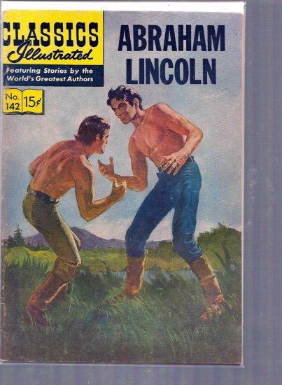 CLASSICS ILLUSTRATED ABRAHAM LINCOLN # 142, 3.5 VG -