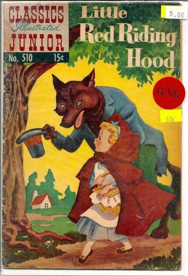 Classics Illustrated Junior # 510, 3.0 GD/VG