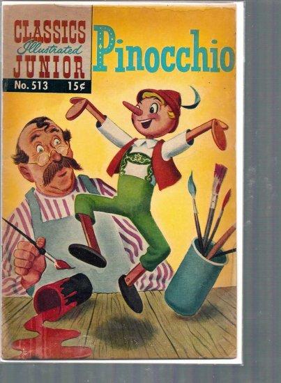 CLASSICS ILLUSTRATED JUNIOR PINOCCHIO # 513, 2.5 GD +