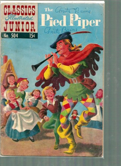 CLASSICS ILLUSTRATED JUNIOR THE PIED PIPER # 504, 3.0 GD/VG