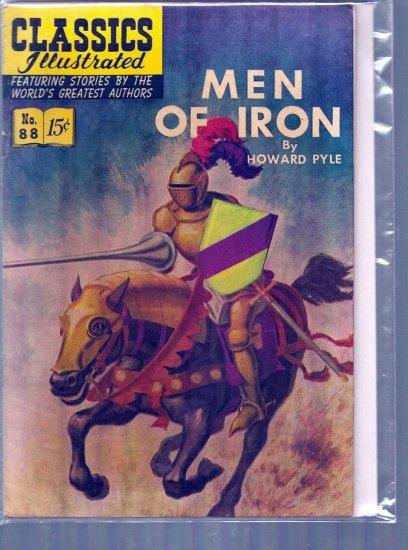 CLASSICS ILLUSTRATED MEN OF IRON # 88, 4.5 VG +