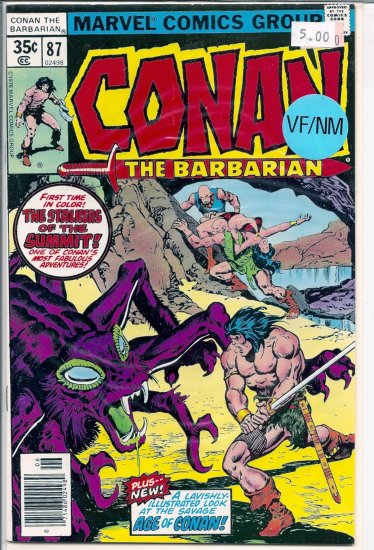 Conan # 87, 9.0 VF/NM