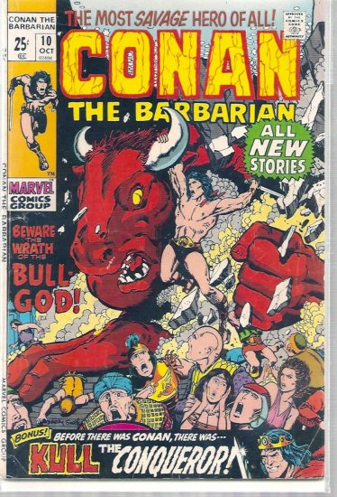 CONAN THE BARBARIAN # 10, 3.5 VG -