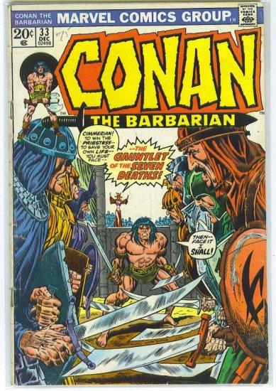 Conan The Barbarian # 33, 4.0 VG