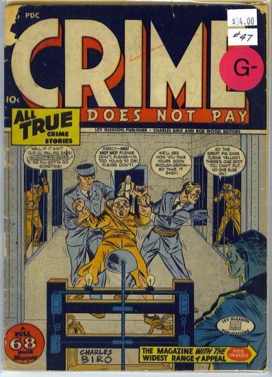 Crime Does Not Pay # 47, 1.8 GD -