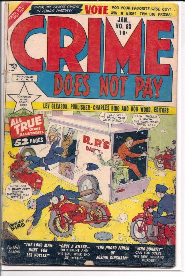CRIME DOES NOT PAY # 83, 2.5 GD +