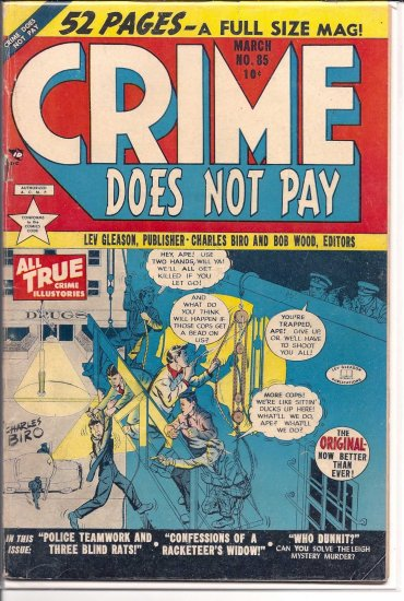 CRIME DOES NOT PAY # 85, 2.0 GD