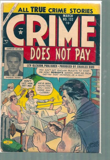 CRIME DOES NOT PAY # 132, 2.5 GD +