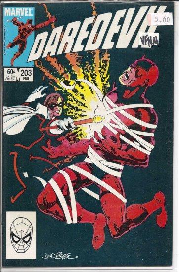 Daredevil # 203, 9.0 VF/NM