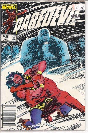 Daredevil # 206, 9.0 VF/NM