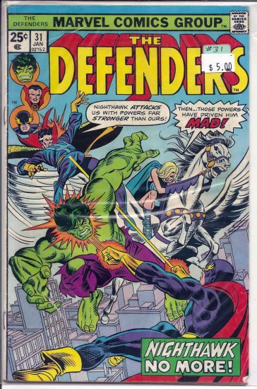 Defenders # 31, 9.0 VF/NM