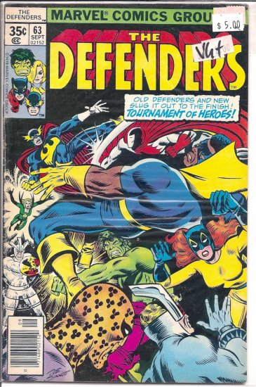 Defenders # 63, 4.5 VG +