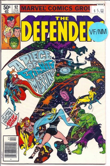 Defenders # 92, 9.0 VF/NM
