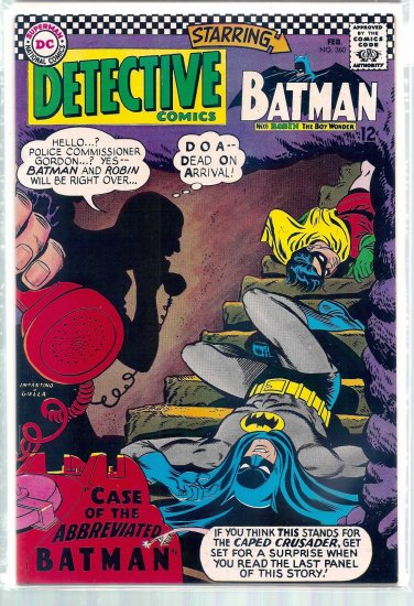 DETECTIVE COMICS # 360, 9.2 NM -