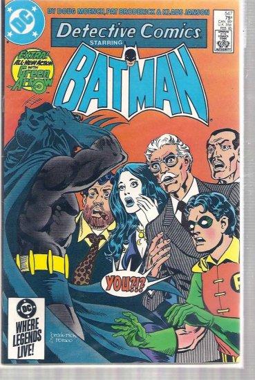 DETECTIVE COMICS # 547, 9.0 VF/NM