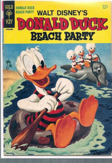 Donald Duck Beach Party # 1, 4.0 VG