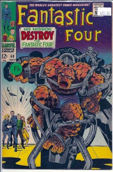 Fantastic Four # 68, 5.5 FN -