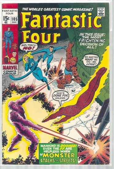 Fantastic Four # 105, 5.5 FN -