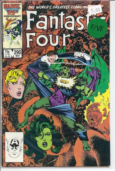 Fantastic Four # 290, 7.0 FN/VF
