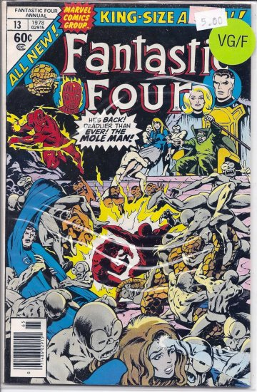 Fantastic Four Annual # 13, 5.0 VG/FN