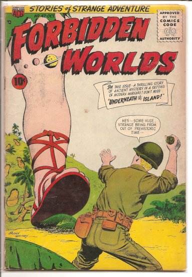 FORBIDDEN WORLDS # 47, 3.0 GD/VG