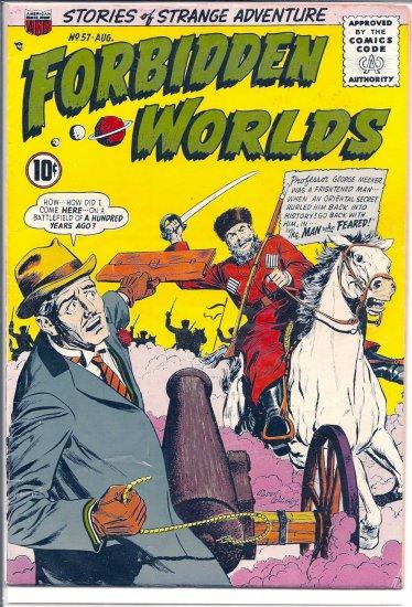FORBIDDEN WORLDS # 57, 4.0 VG