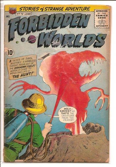 FORBIDDEN WORLDS # 79, 1.8 GD -