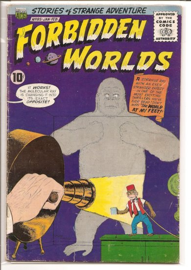 FORBIDDEN WORLDS # 85, 3.0 GD/VG