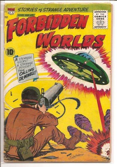 FORBIDDEN WORLDS # 86, 1.8 GD -