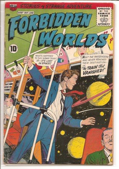 FORBIDDEN WORLDS # 87, 3.5 VG -