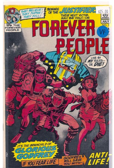 Forever People # 3, 8.0 VF